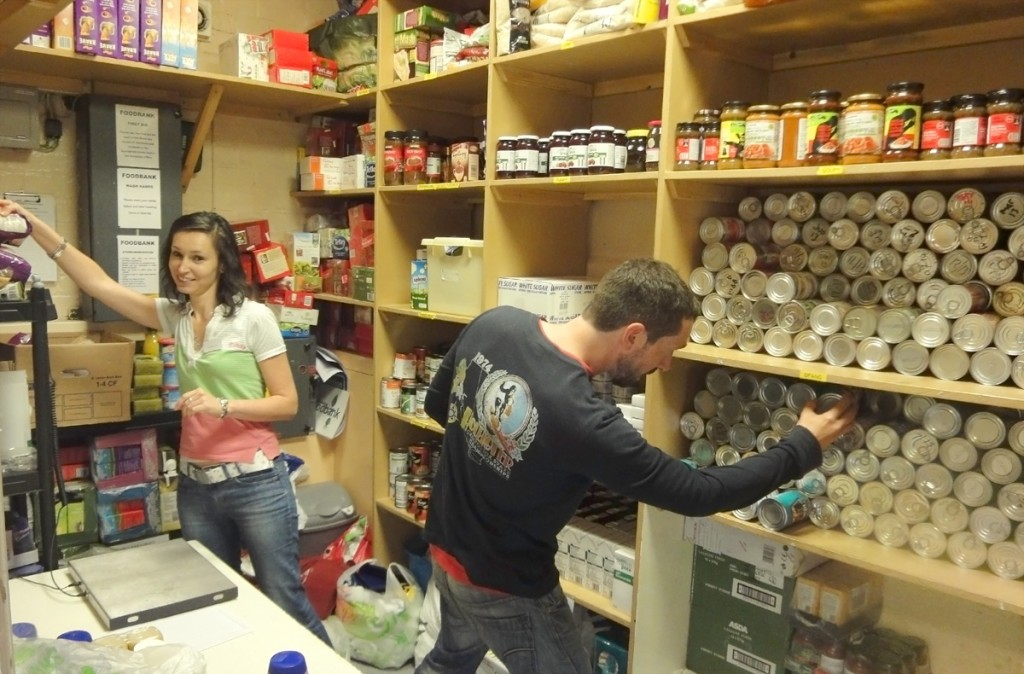 Working at the Foodbank
