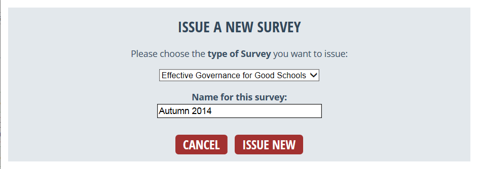 Perspective: Issuing a new survey