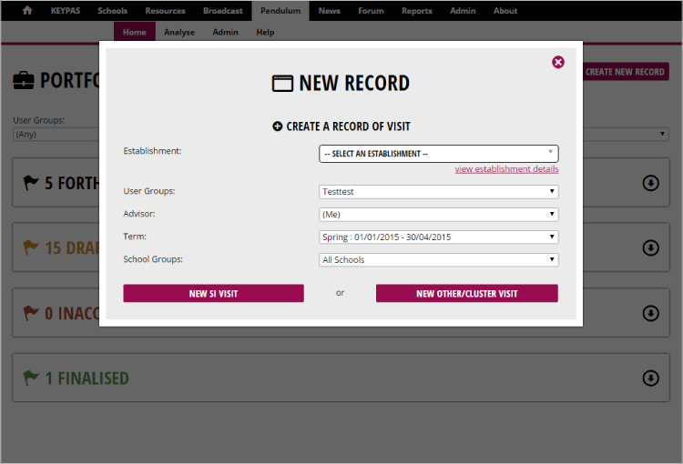 Create a new record in the click of a button