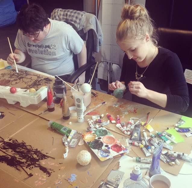 Rob and Lisa painting