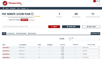 Your 5 Minute Lesson Plan Portfolio page shows you exactly how long you've got left on your Personal Licence