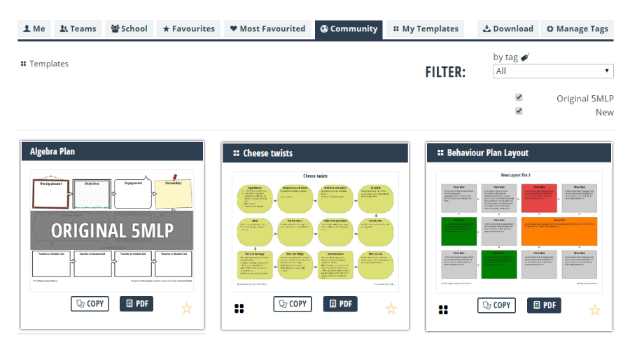 Share Templates with the wider teaching community to spread resources!