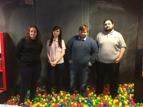 Left to right- Chloe Prior, Harriet Bridge, Ryan Simpson and Jordan Walton